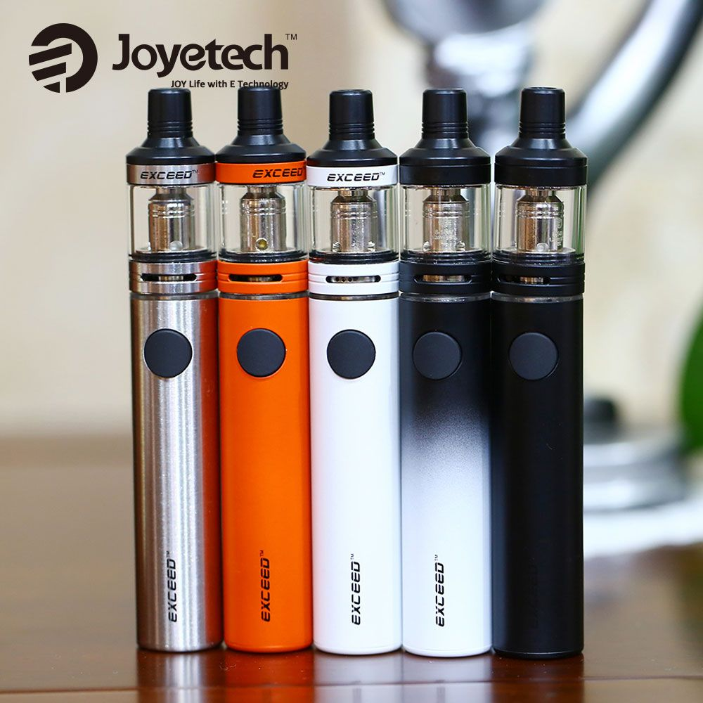 Original 40W Joyetech Exceed D19 Vape Kit Built In 1500mAh Battery 2ml Exceed D19 Atomizer Tank DL/MTL EX Coil Heads E-cig Kit