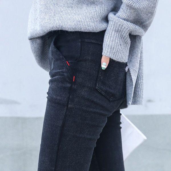 Skinny Jeans Femme 2019 nouveau printemps mode petit ami lavé élastique Denim pantalon crayon Slim Capris pantalon Imitation Jean Femme