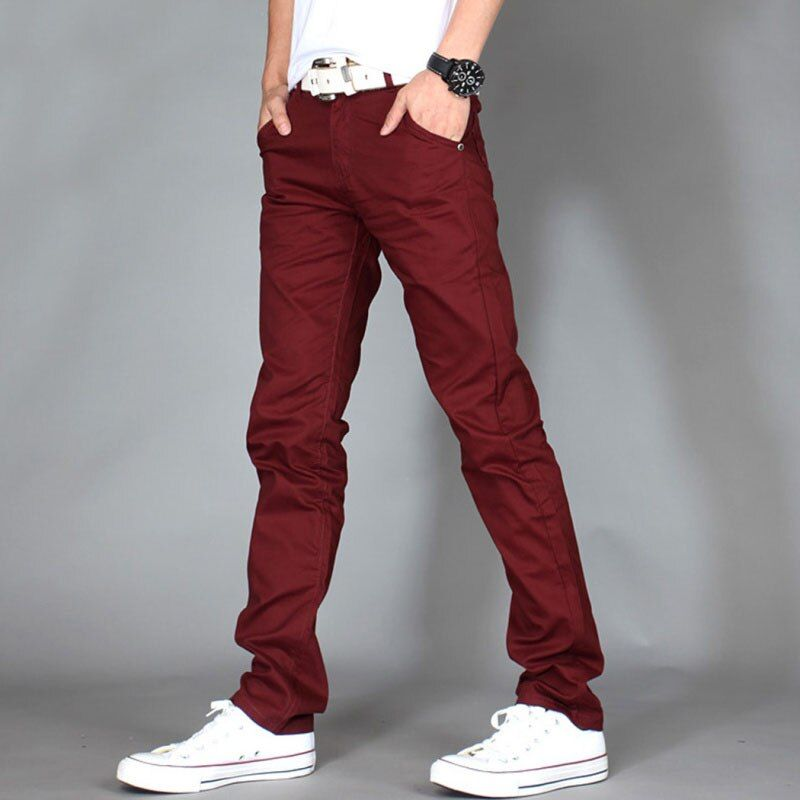New 2018 Fashion Men Casual Pants Male Slim straight Business Stretch Skinny Solid Track Sweatpants Trousers Pantalones hombre