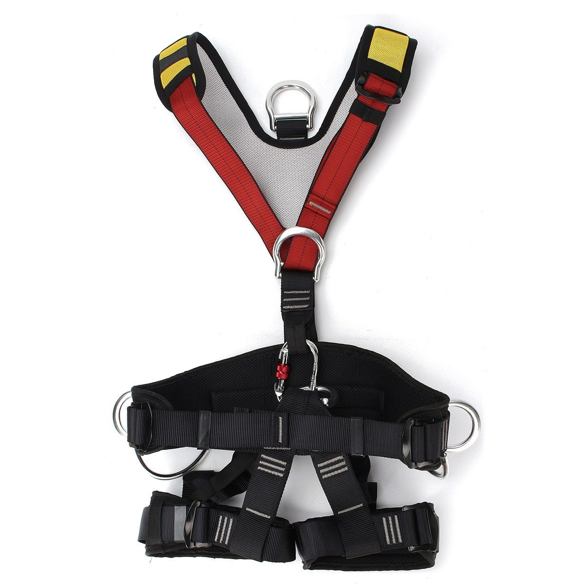 Professional Outdoor Rescue Rock Climbing Sitting Bust Belt Safety Seat Rappelling Harness Full Body Rescue Climbing Belt