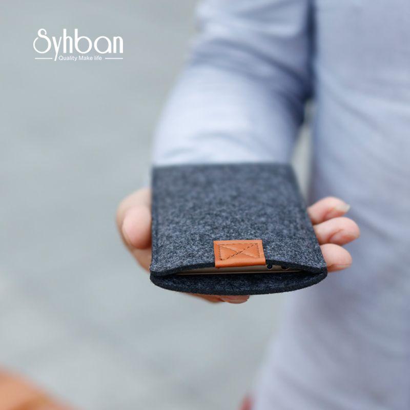 Laine fait main pochette en feutre Style Pour iphone Xs XR/7.8 cas clair Personnalisé Tailles pour Samsung S9/S8 Plus étui de téléphone portable