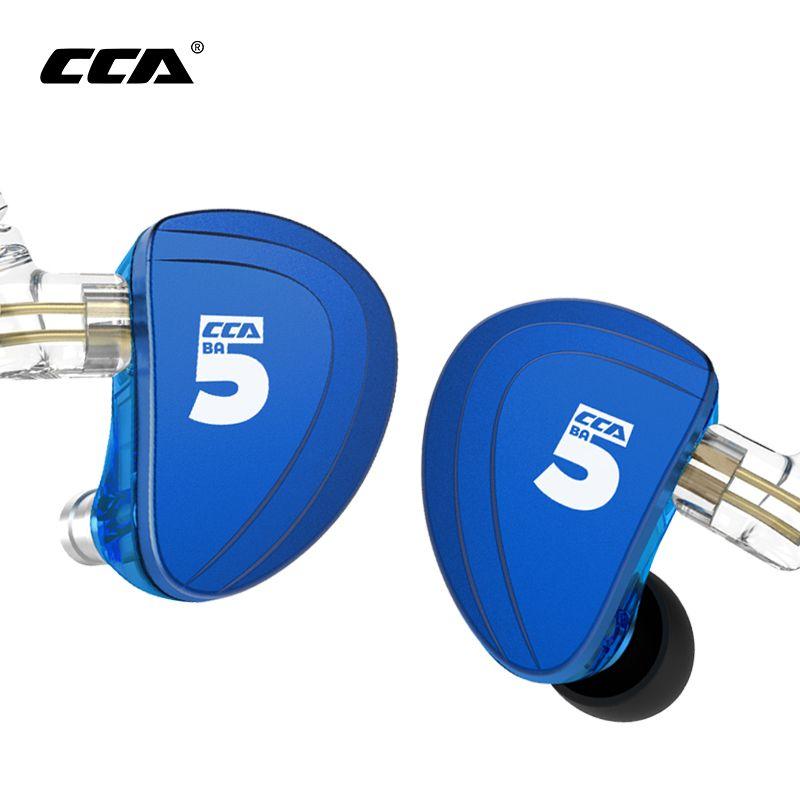 CCA A10 Kopfhörer 5 Ausgewogene Anker Fahrer In Ohr Kopfhörer HIFI Bass Monitor Kopfhörer Earbuds Mit 2pin Kabel KZ AS10 KZ BA10