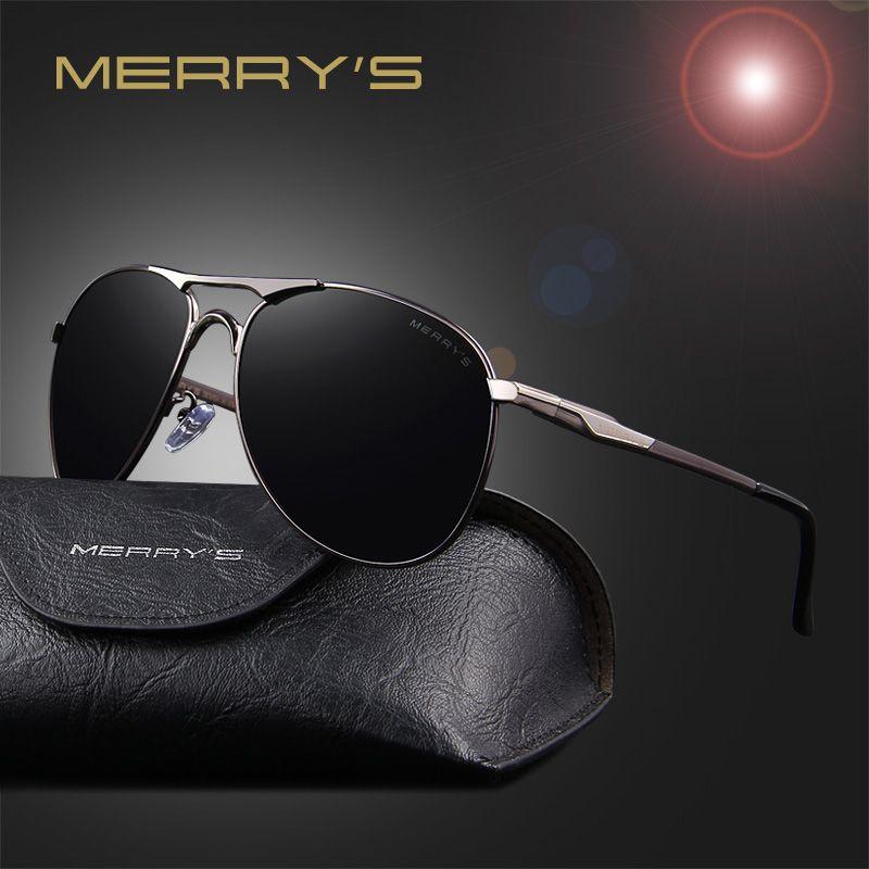 MERRY'S 2016 En Aluminium lunettes de Soleil Polarisées Hommes Classique Marque Designer conduite Lunettes Pilote lunettes de soleil S'8712