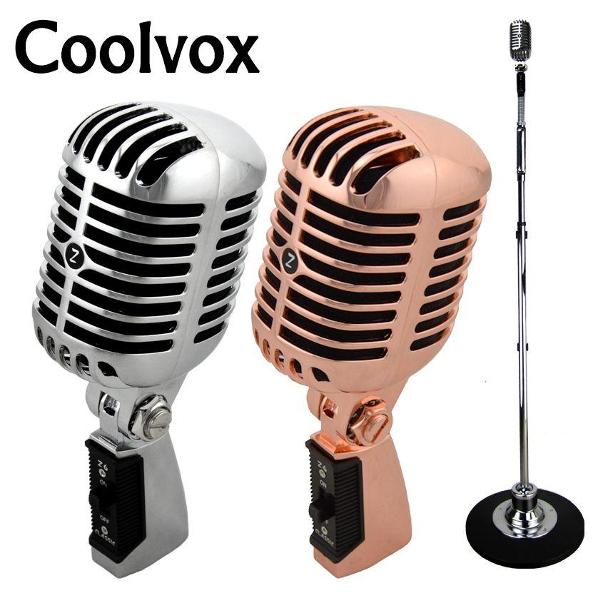 Professionnel Filaire Vintage Classique Microphone Bonne Qualité à Bobine Mobile Dynamique Mike Deluxe En Métal Vocal Vieux Style Ktv Mic Z6 mike