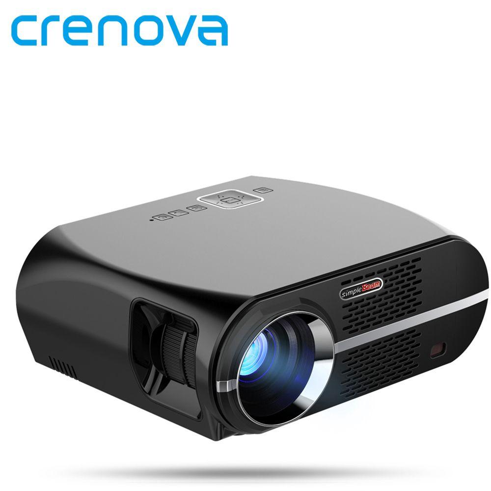 Crenova GP100 Projector Full HD Native 1280*800 Support 1080P HDMI USB VGA 3500 Lumens Video LED Projector for Home Theater
