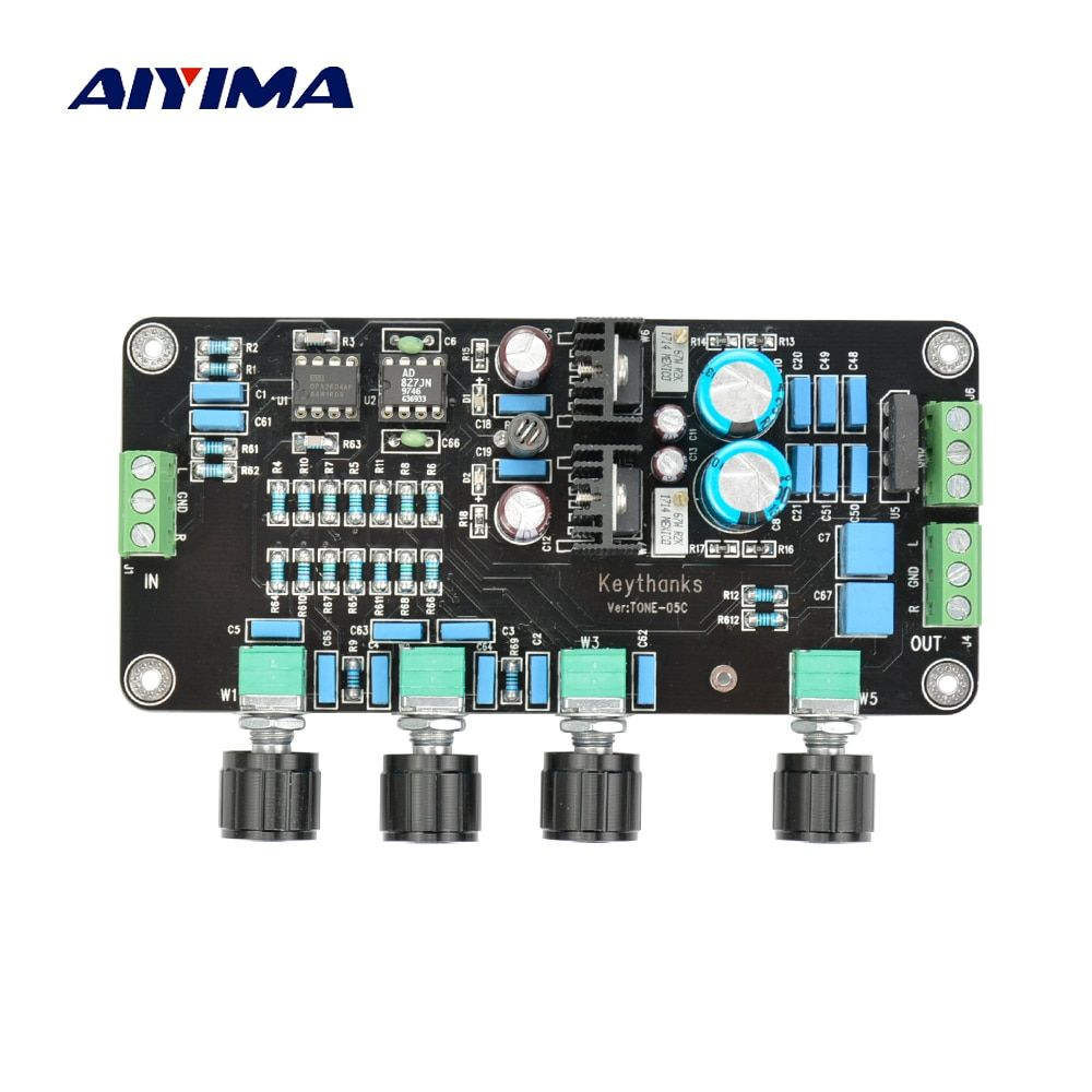 Aiyima Tone Board 2604 AD827 Fever Amplifier Preamplifier Volume Control Amplifier Preamp Tuning Board AC Dual 15-20V