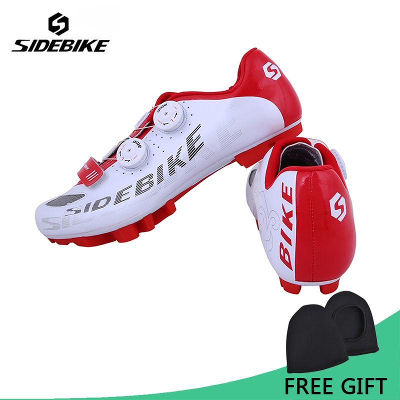 Sidebike Professionelle Fahrrad Fahrradschuhe Mountainbike S2-Snap Knopf Racing Sportschuhe Atmungs MTB Selbstsichernde Schuhe