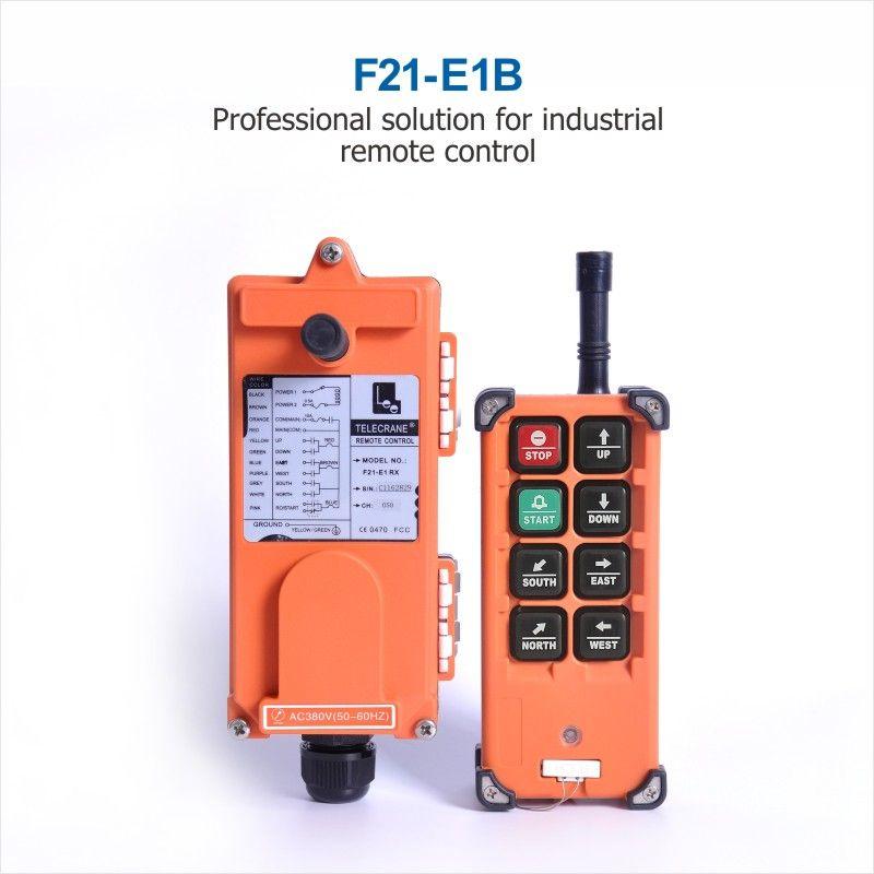 Universel en gros F21-E1B grue industrielle sans fil radio RF contrôle 1 émetteur 1 récepteur pour camion grue grue