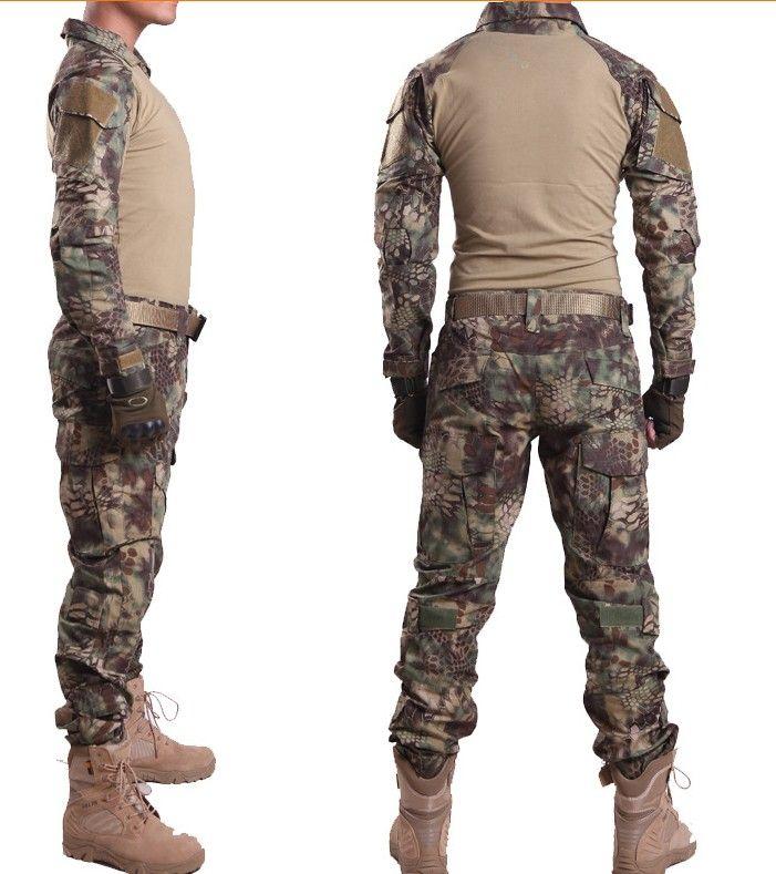 Kryptek Mandrake Green Gen2 Combat uniform Tactical gear shirt and pants Army Training Hunting Set