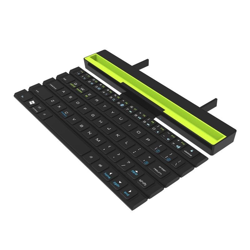 Portable Rollable Foldable BT Wireless Keyboard Folding Intelligent Magnetic Switch Bluetooth Keyboard For Smartphone Tablet