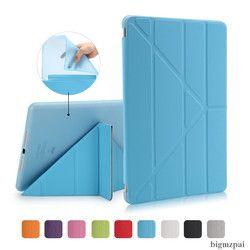 Smart Case untuk Baru Ipad 9.7 2018 Ultra Slim TPU Fleksibel Silikon Lembut Kembali dan Auto Bangun Cover For New ipad 9.7 2017 Tablet