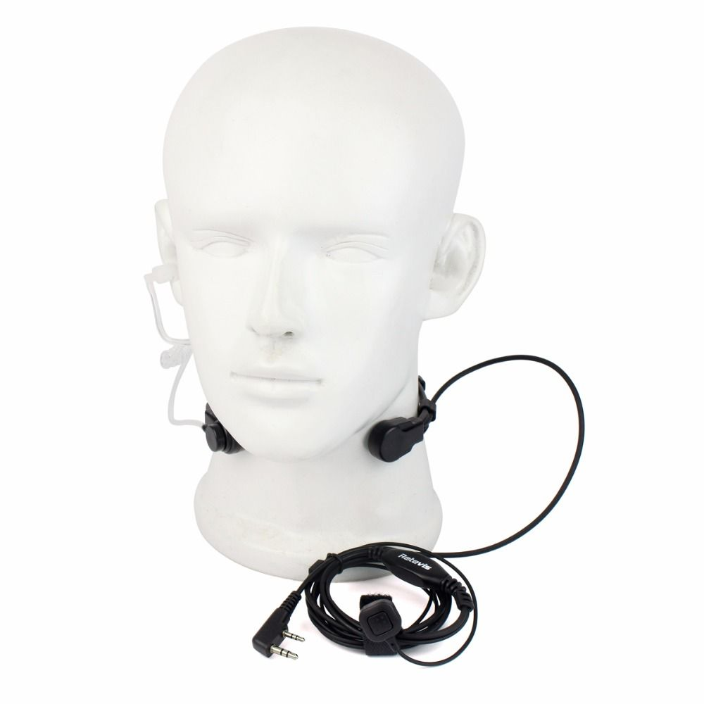 2 Pin Throat Walkie Talkie Accessories Headset For Baofeng UV 5R Retevis H777 RT5R For Kenwood For TYT Two Way Radio C9026A