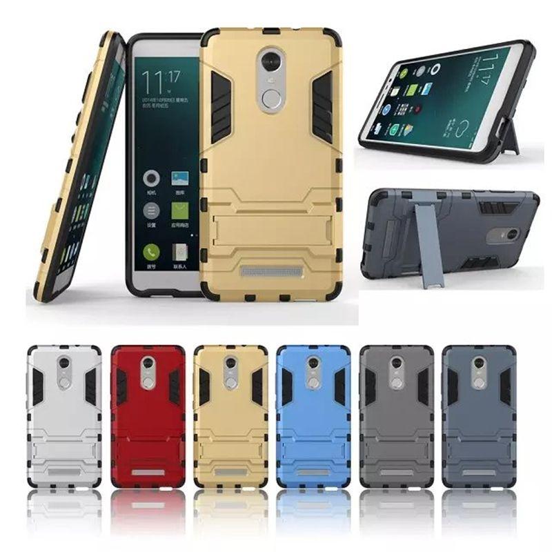 Cas Pour Xiaomi Redmi 4X4 Pro 3 S 4A NOTE 4X3 4 Premier Mi4C Mi5 Mi5S Mi 6 5 5S Cas Xiomi Armure TPU Béquille Téléphone Stand couverture