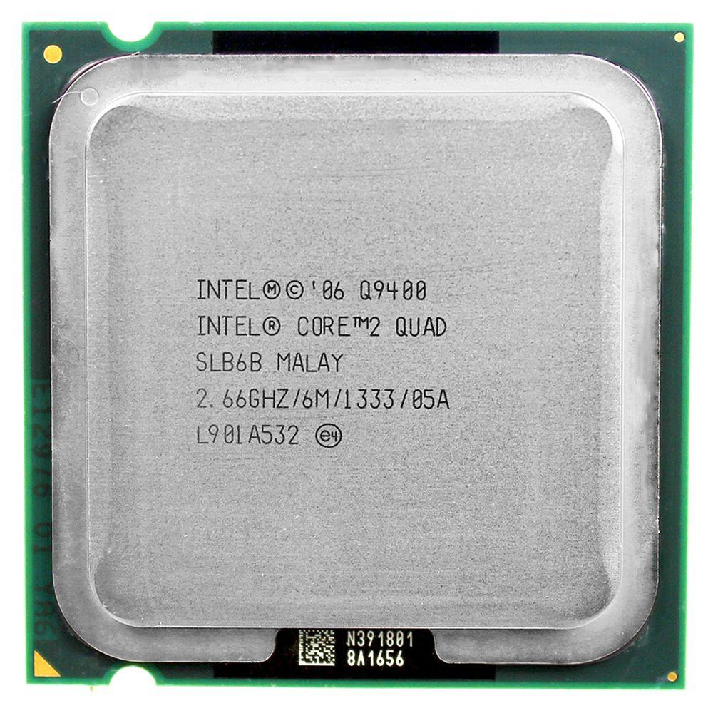 Intel core 2 quad Q9400 CPU Processeur (2.66 Ghz/6 M/1333 GHz) Socket LGA 775 CPU De Bureau livraison gratuite carte mère cpu combo