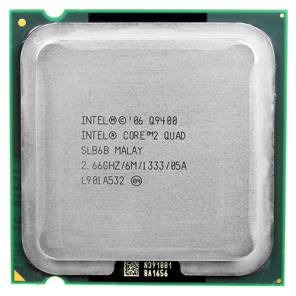 <font><b>intel</b></font> core 2 quad Q9400 CPU Processor (2.66Ghz/ 6M /1333GHz) Socket LGA 775 Desktop CPU free shipping motherboard cpu combo