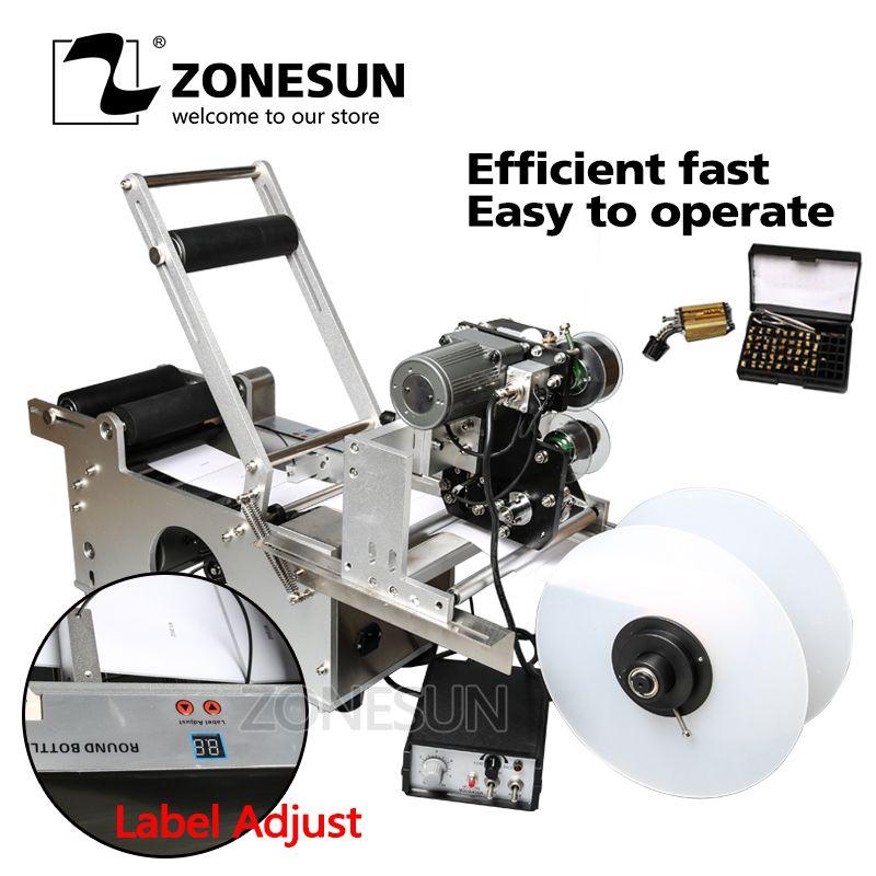 ZONESUN LT-50D/50DT Kennzeichnung Maschine Kennzeichnung Aufkleber Verpackung Maschine Hinzufügen Codierung Maschine Druck Datum Kennzeichnung Maschine