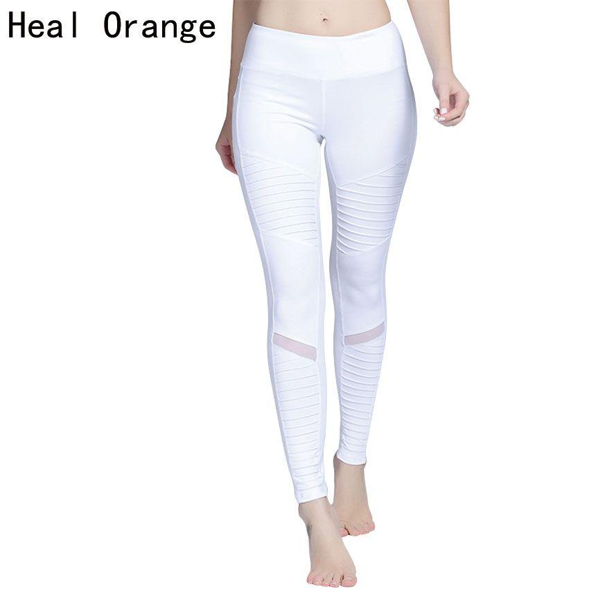 Восстанавливает оранжевый Для женщин Йога Леггинсы для женщин высокая талия Йога спортивные брюки легинсы спортивные Для женщин Фитнес Сп...