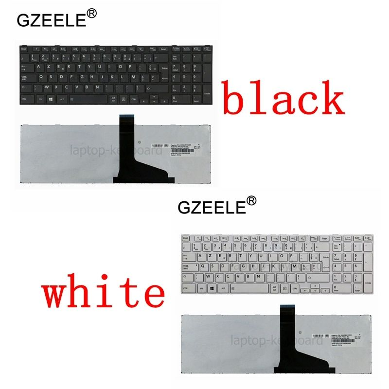 GZEELE French Keyboard for TOSHIBA C70 C70D C75 C75D P850D P855 P855D P870 P870D P875 P875D S850 S855 Qosmio X870 X875 AZERTY FR