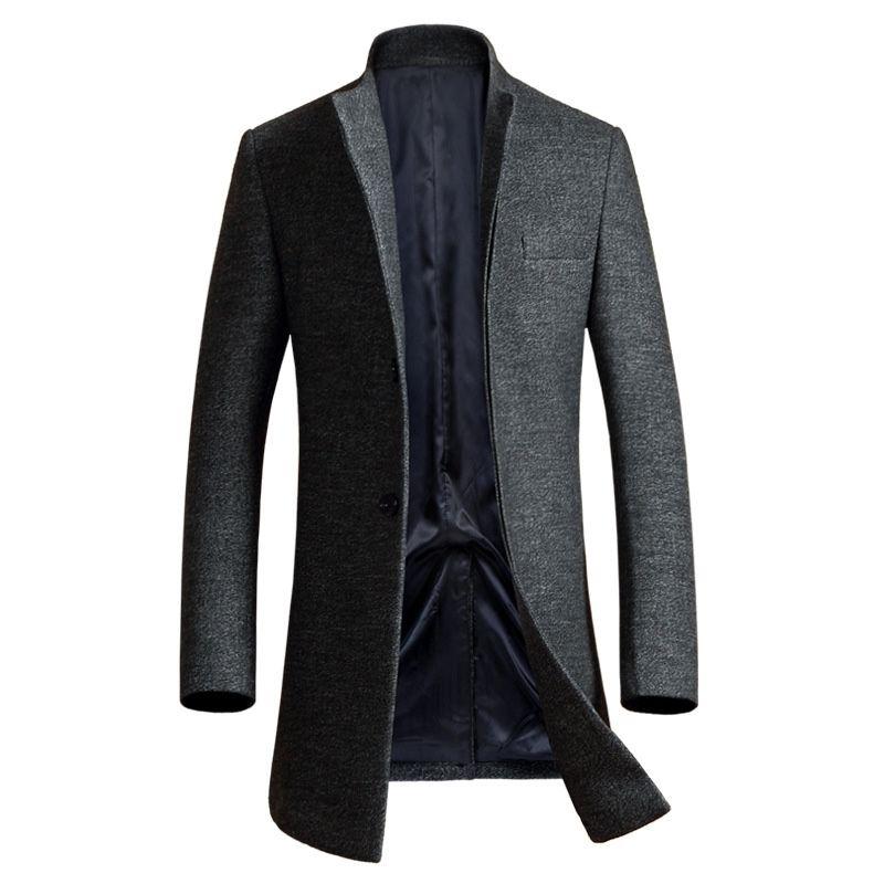 Luxus Wolle Mantel Männer 2017 Winter Mens Cashmere Mantel Marke Slim Fit Wolle & Blends Herren Pea Coat Fashion Manteau Homme Mantel