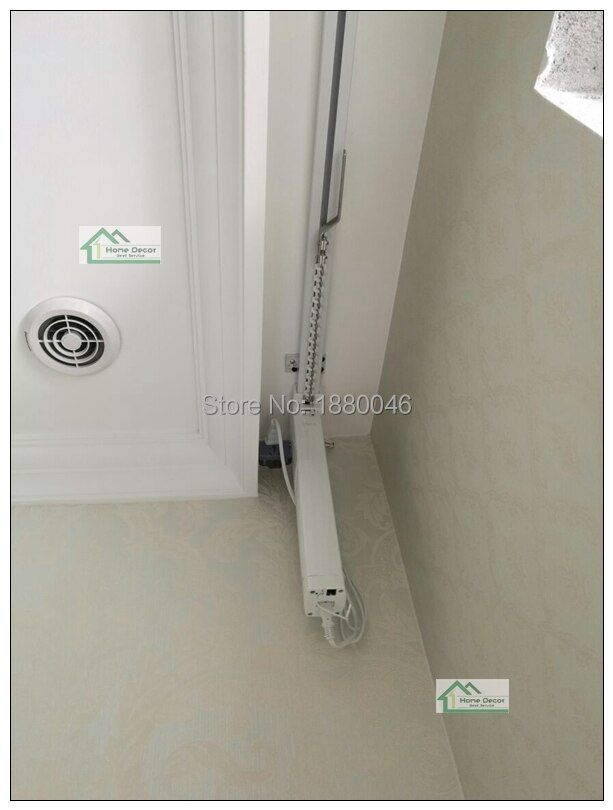 Brand New Super SILENT motorized DOOYA motor DT82TN Single curtain track, smart home used motorized curtain for living room