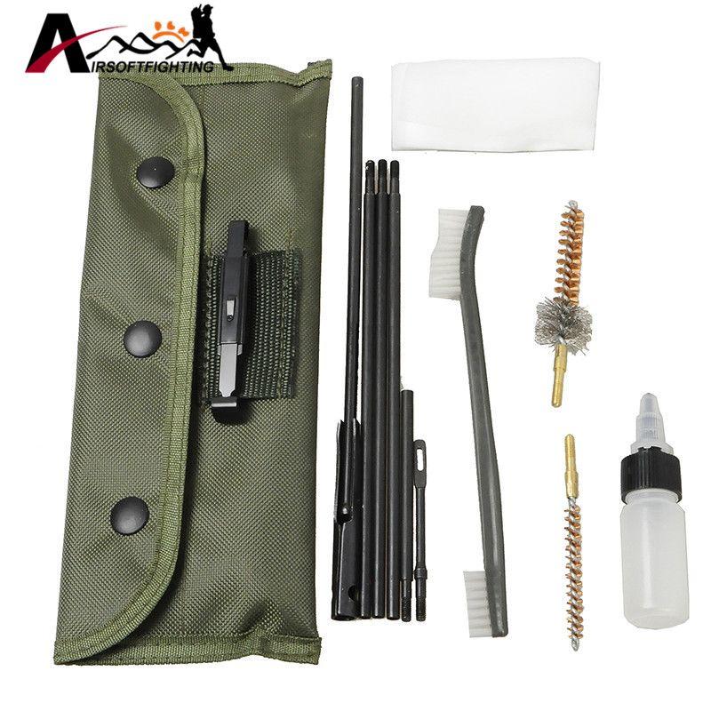 Nouvelle Arrivée 10 pièce. 22cal 5.56mm Fusil Kit De Nettoyage Set De Nettoyage Tige Nylon Brosse Propre Pistolet Accessoires Des Outils Propres