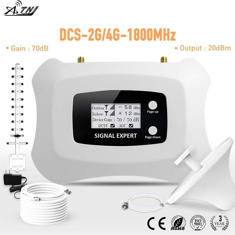 Spécialement pour la russie DCS 2g 1800mhz Tele2 4G répéteur amplificateur 2g Tele2 4g répéteur de signal amplificateur de signal cellulaire
