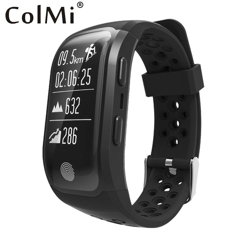 ColMi S908 Bluetooth GPS Tracker Wristband IP68 Waterproof Smart Bracelet Heart Rate Monitor Fitness Tracker Brim Smart Band