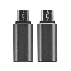 2pcs USB C Type C Female to Micro USB Male Aluminum Alloy Shell Connector Converter Adapter for Nexus Black Color Wholesale