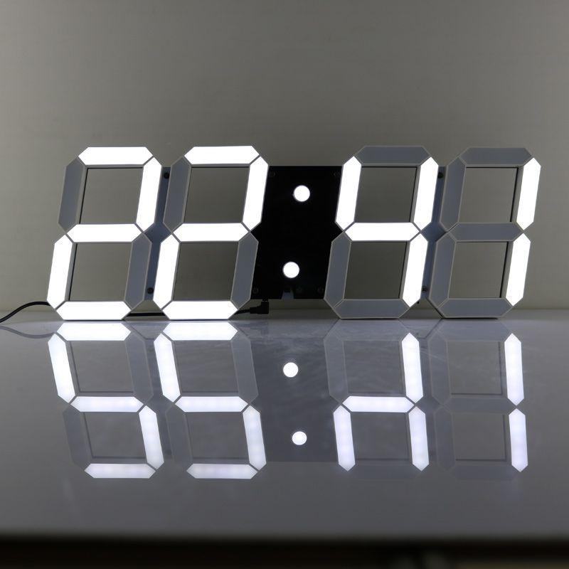 Chkosda большой 3 D настенные часы современный Дизайн Показать обратный отсчет времени Дата Температура 16 групп сигналы тревоги настенные часы ...