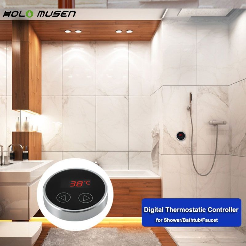 LCD Touch Thermostat Temperature Controller Panel Digital Thermostatic Shower Mixer Faucet Panel Thermostatic Bath Mixer Conrtol