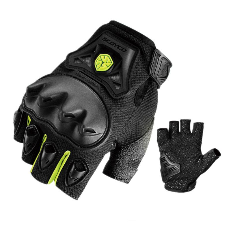 Summer Motorcycle gloves Scoyco MC29D half finger Moto gloves Protective Motocross racing gloves Moto Guantes Motocicleta Luvas