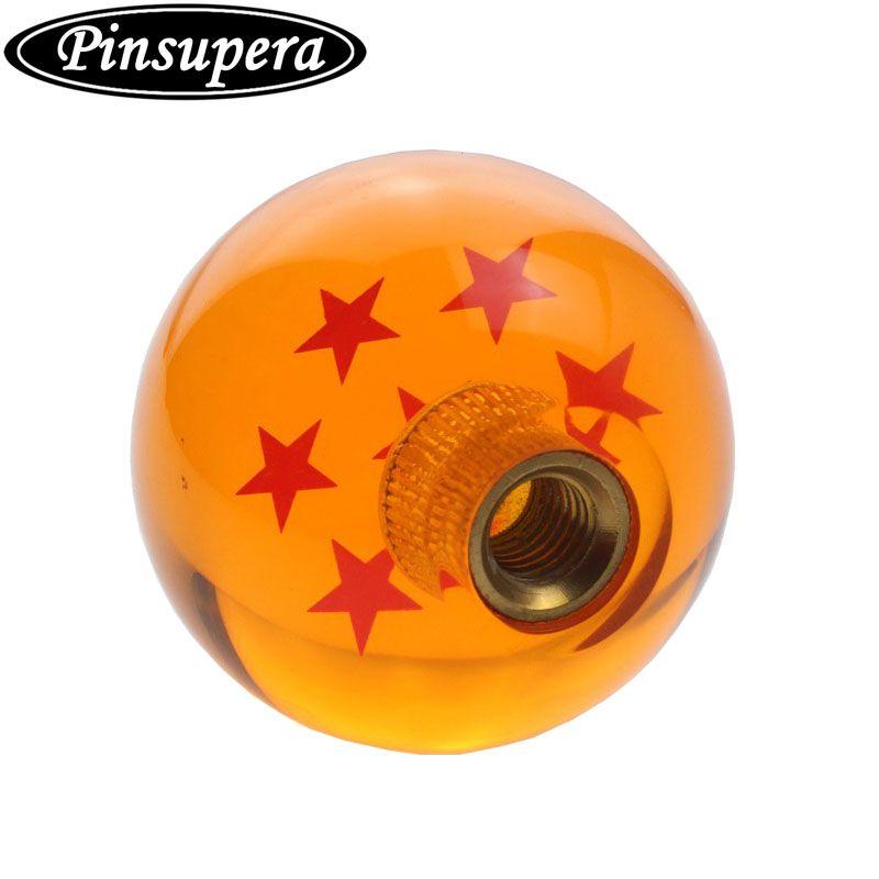 PINSUPERA Universal Dragon ball Z Star Manual Stick Shift Knob With Adapters Fits Most Cars (1~7 Star)