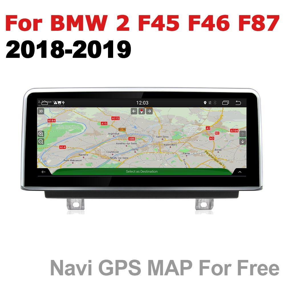 Auto Radio 2 din GPS Android Navigation Für BMW 2 Serie F45 F46 F87 2018 ~ 2019 EVO AUX Stereo multimedia touchscreen original