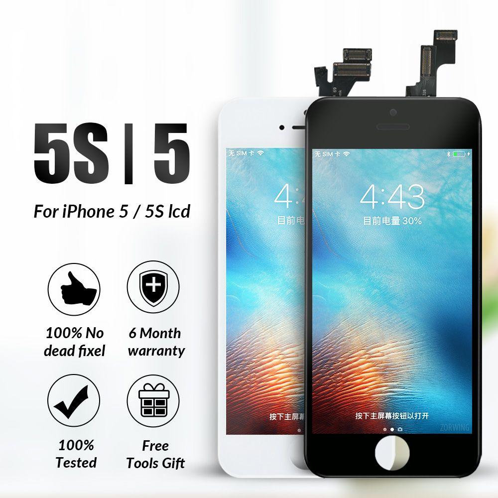 Grade AAA LCD Pour iPhone 5 5S LCD Affichage à L'écran Tactile Digitizer Remplacement D'affichage Pour iPhone 5S 5 5C SE LCD Écran Assemblée