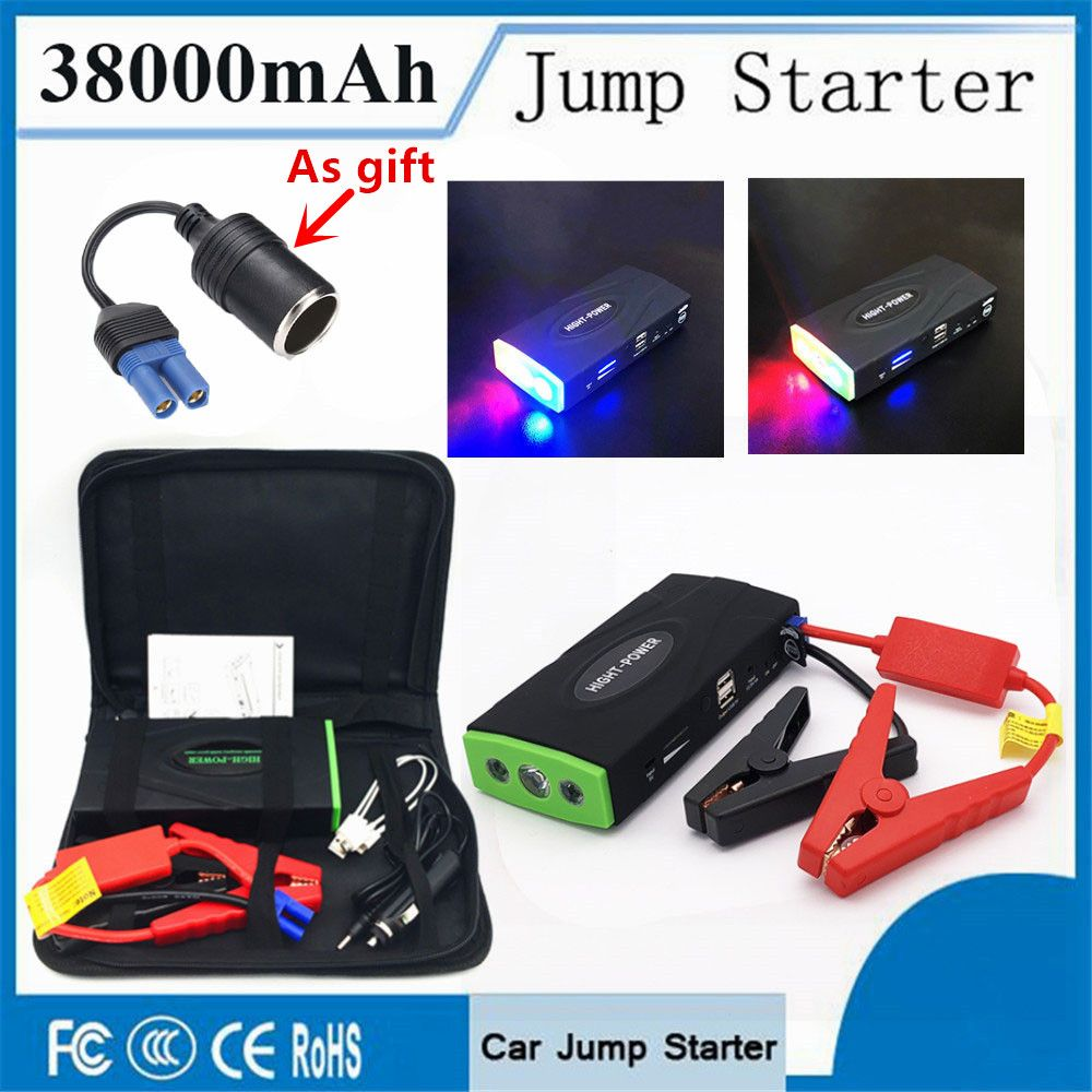 Multi-Function 38000mAh Starting Device Booster 12V 600A Petrol Diesel Car Starter Portable Car Charger For Car Battery Buster