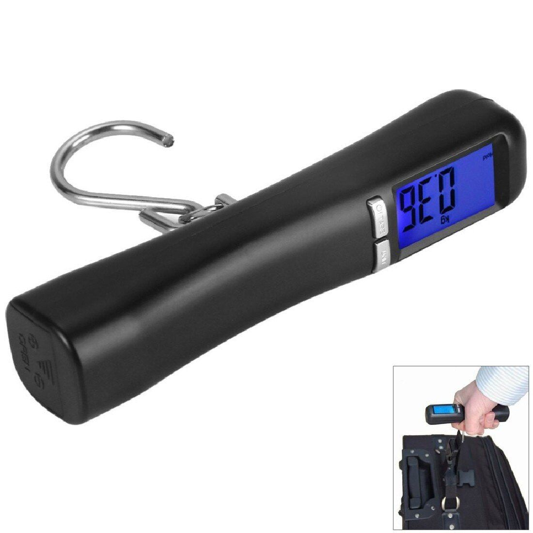 New Brand 1pc High Quality LCD Backlit 40Kg Travel Portable Luggage Baggage Suitcase Bag Weight Digital Weighing Hook Scale
