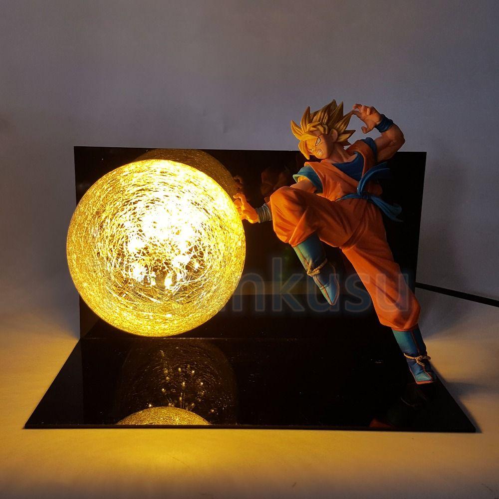 Dragon Ball Z Action Figure Son Goku Super Saiyan FES Led Lighting Display Toy Anime Dragon ball Goku Collectible Model DIY147