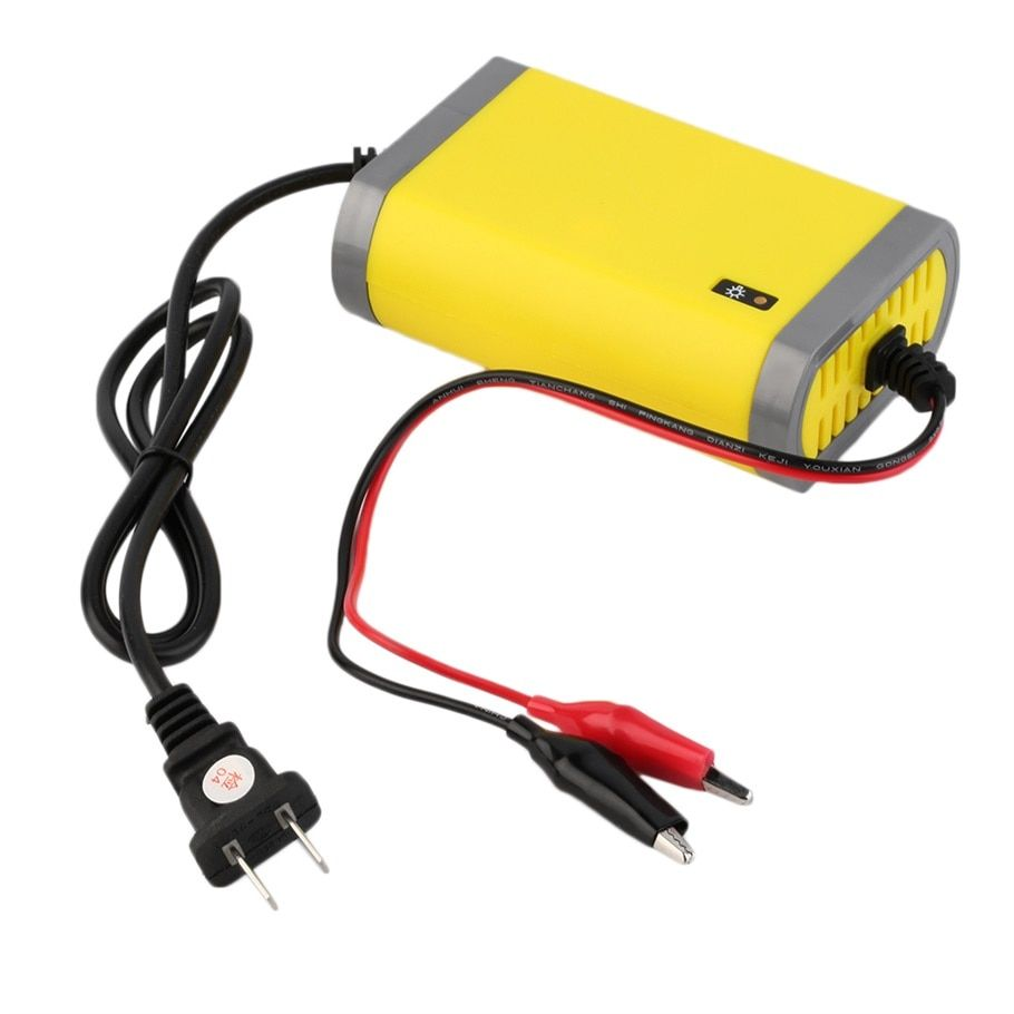 Portable Car Battery Charger 12v 2A Fully-automatic Car motorcycle battery charger Adaptor Power Supply US Plug