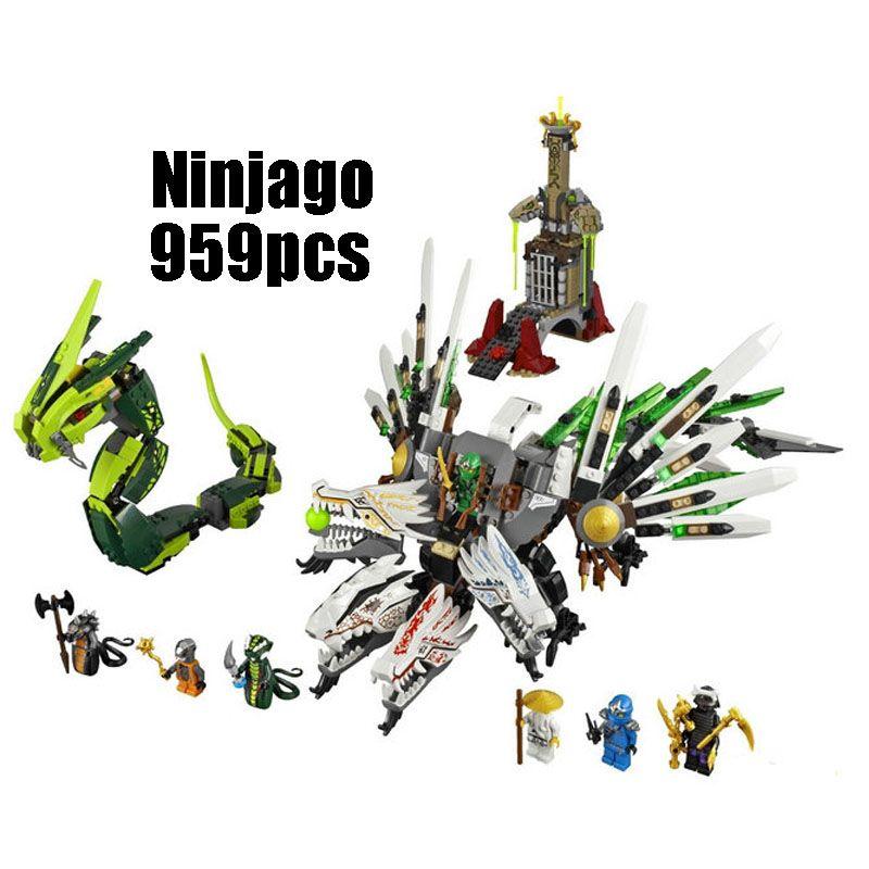 79132 959 stücke Kompatibel mit Lego blöcke Ninjago 9450 Figur Epic Dragon Schlacht Modell gebäude spielzeug hobbies ziegel für kinder