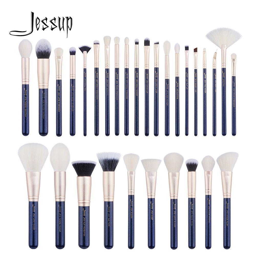 Jessup pinsel 30 PCS Preußische Blau/Goldene Make-Up pinsel set Beauty-tools Make up pinsel POWDER FOUNDATION LIDSCHATTEN CONCERLER