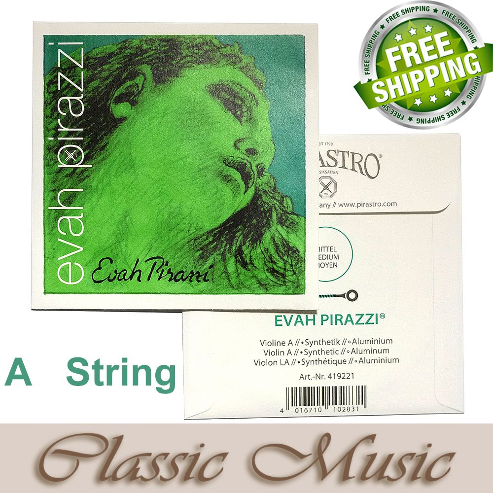 Free shipping ,Evah Pirazzi  Violin String, A String (419221),Ball End made in Germany,4/4