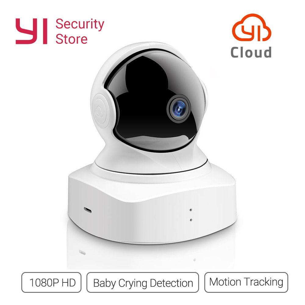 Nouvelle Arrivée 2018 YI Nuage Caméra Dôme 1080 p Sans Fil IP Caméra de Sécurité Bébé Moniteur Nuit Vision International Version