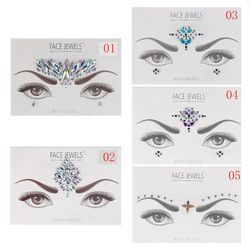 1PC Face Jewels Crystal Temporary Eyes Tattoos Transfer Eyeshadow Eyeliner Face Stickers Body Eye Accessories 10 Styles