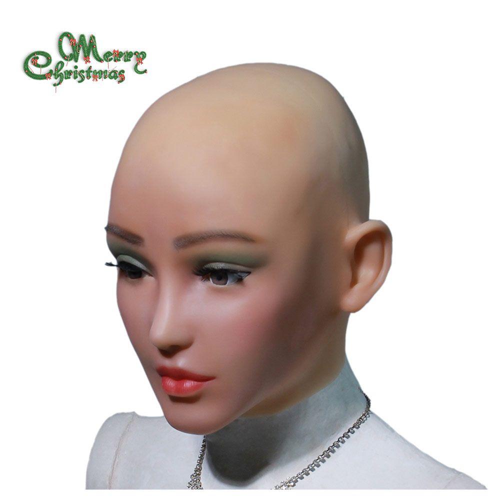 YR-H-Elsa angel face silicone realistic female skin Halloween dance masquerade cosplay drag queen crossdresser male to female