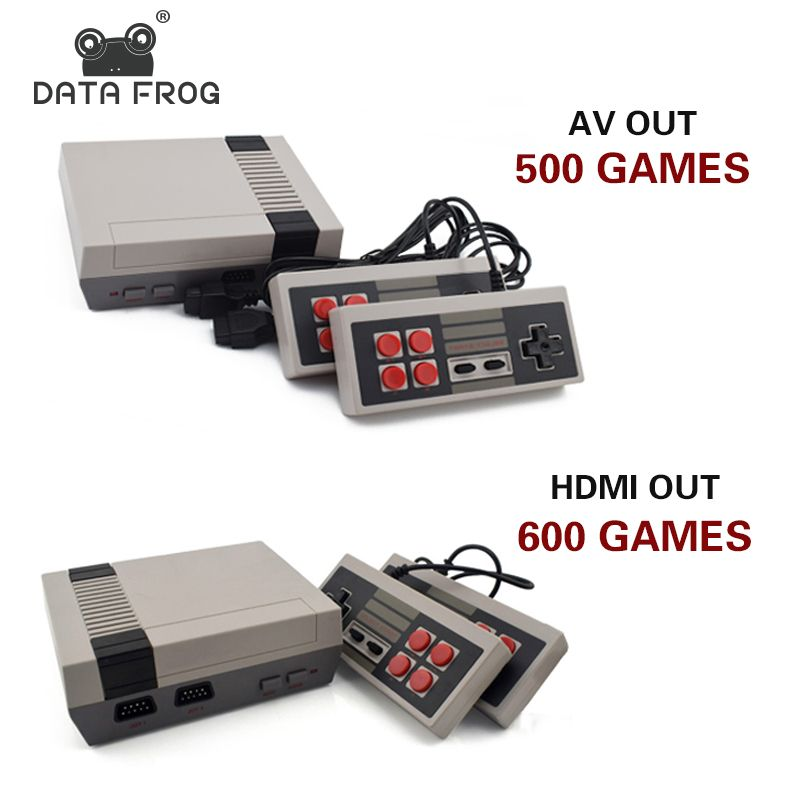 Data Frog Mini TV Game <font><b>Console</b></font> Support HDMI/AV 8 Bit Retro Video Game <font><b>Console</b></font> Built-In 600/500 Games Handheld Gaming Player