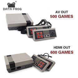 Données Grenouille Mini TV Console de Jeu en HDMI/AV 8 Peu Rétro Vidéo Console de Jeu Intégré 600/500 Jeux De Poche Lecteur de jeu