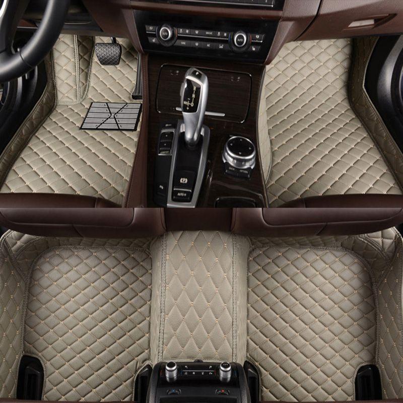 -Matte leder auto boden matten für Acura Alle Modelle MDX RDX ZDX RL TL ILX TLX CDX auto zubehör AUTO aufkleber Benutzerdefinierte fuß matte