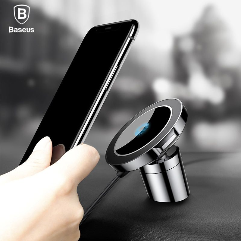 Baseus Magnetic Car holder Wireless Charger For iPhone X 8 Samsung Note 8 S8 Fast Qi Wireless Charging Magnetic Car Phone Holder