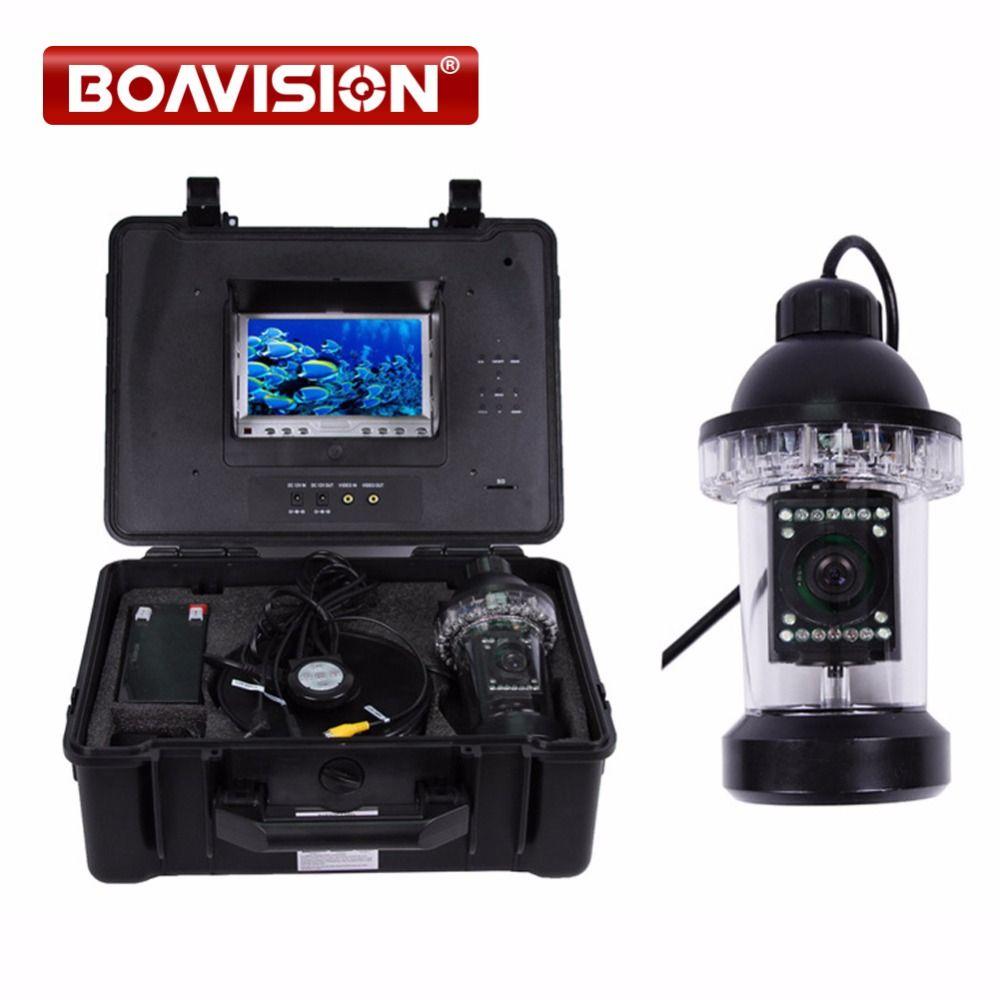 50 mt Kabel Unterwasserfischen-wasserdichte Kamera video Fish Finder mit 18 stücke weiße LED Drehen 360 Grad Eingebauten DVR Recorder Kostenloser 4 GB karte