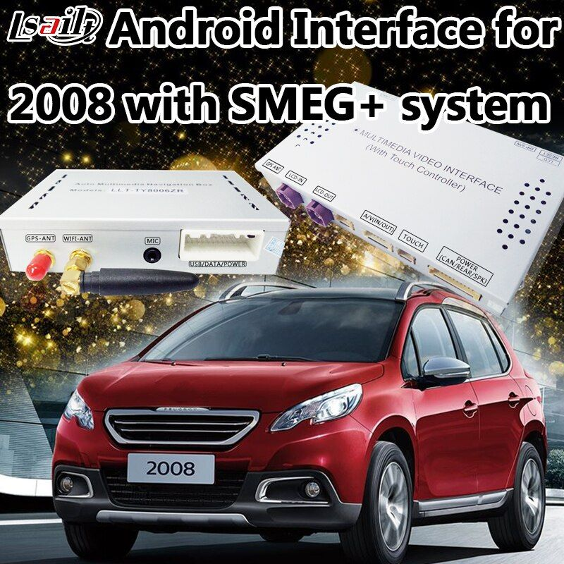 Android 6.0 Navigaiton Interface for 2014-2016 Peugeot 2008 SMEG+ with Moving Parking Guide Line ,Apps , Miracast
